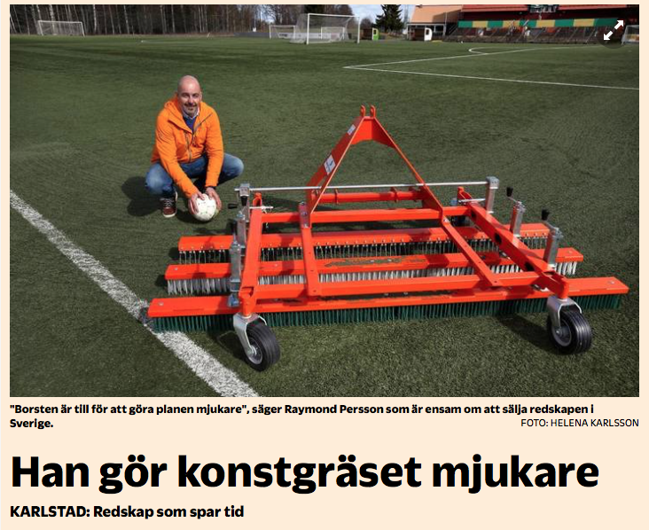 Raymond med full klaff i Sverige